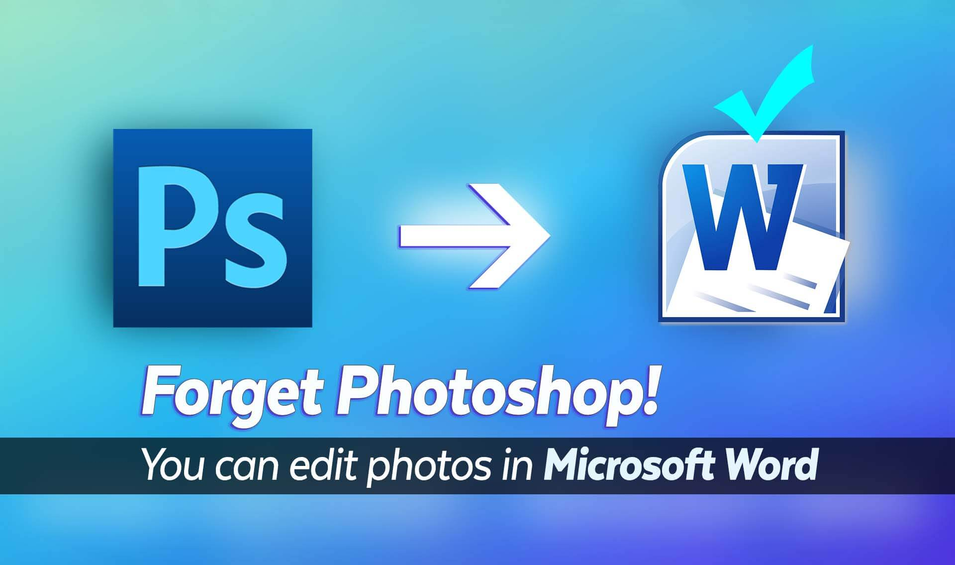 You can edit photos in Microsoft Word