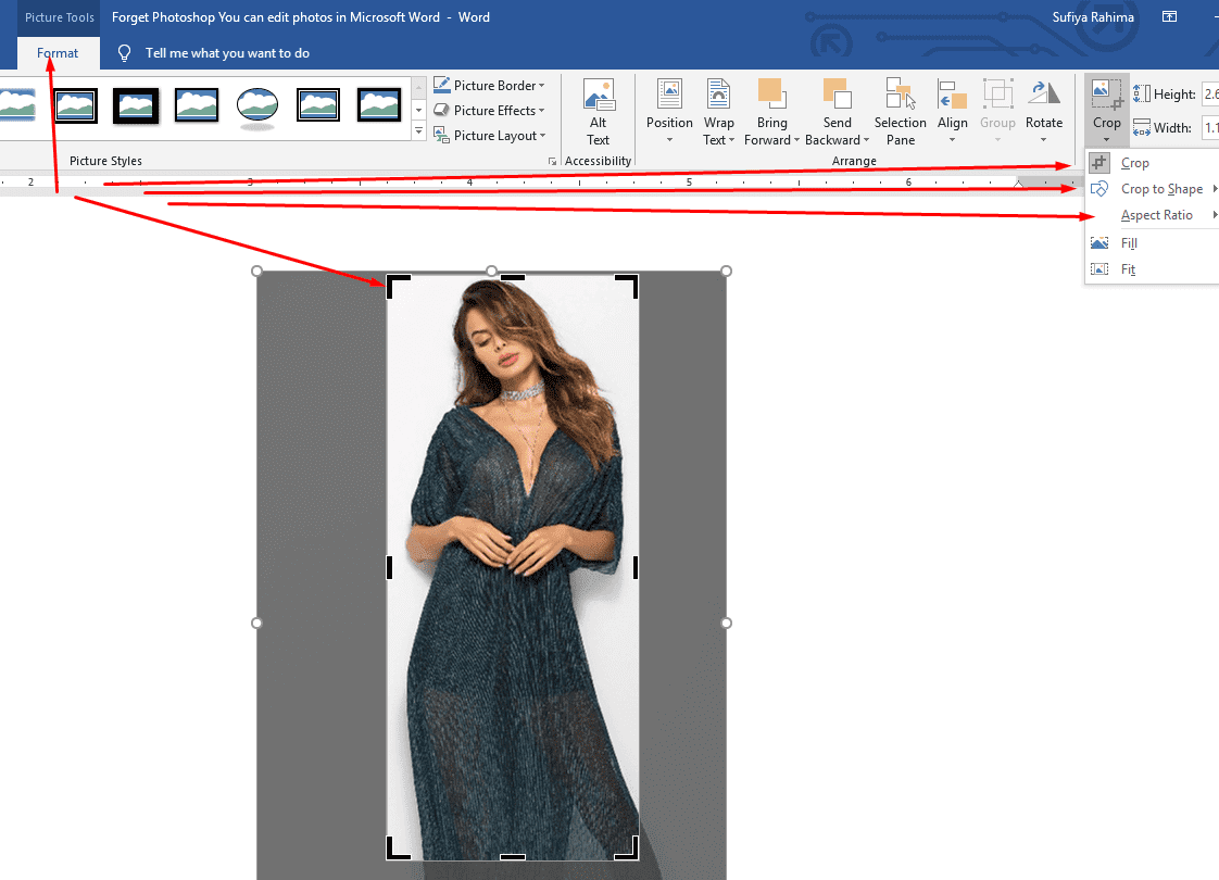 Forget Photoshop - You can edit photos in Microsoft Word 3
