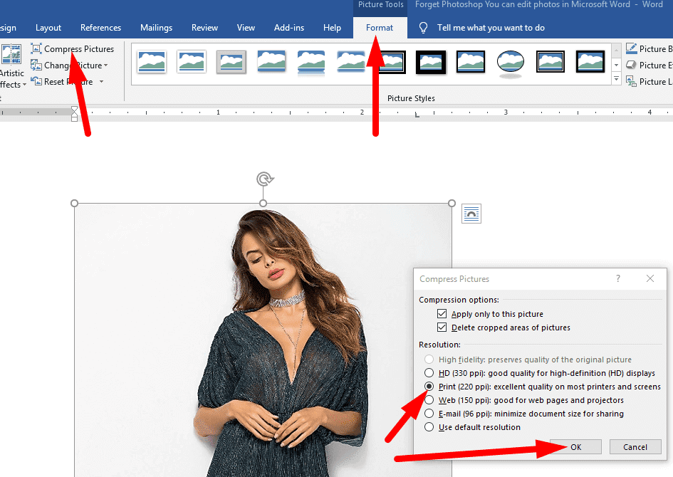 Forget Photoshop - You can edit photos in Microsoft Word 8