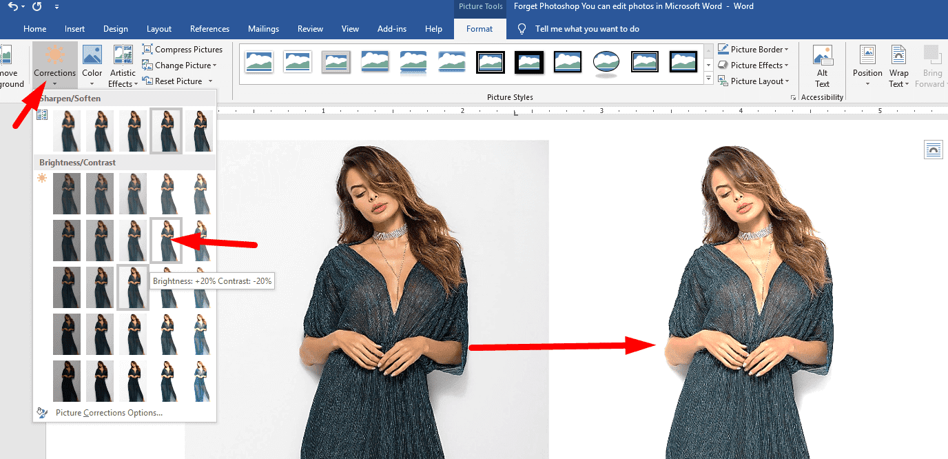 Forget Photoshop - You can edit photos in Microsoft Word 5