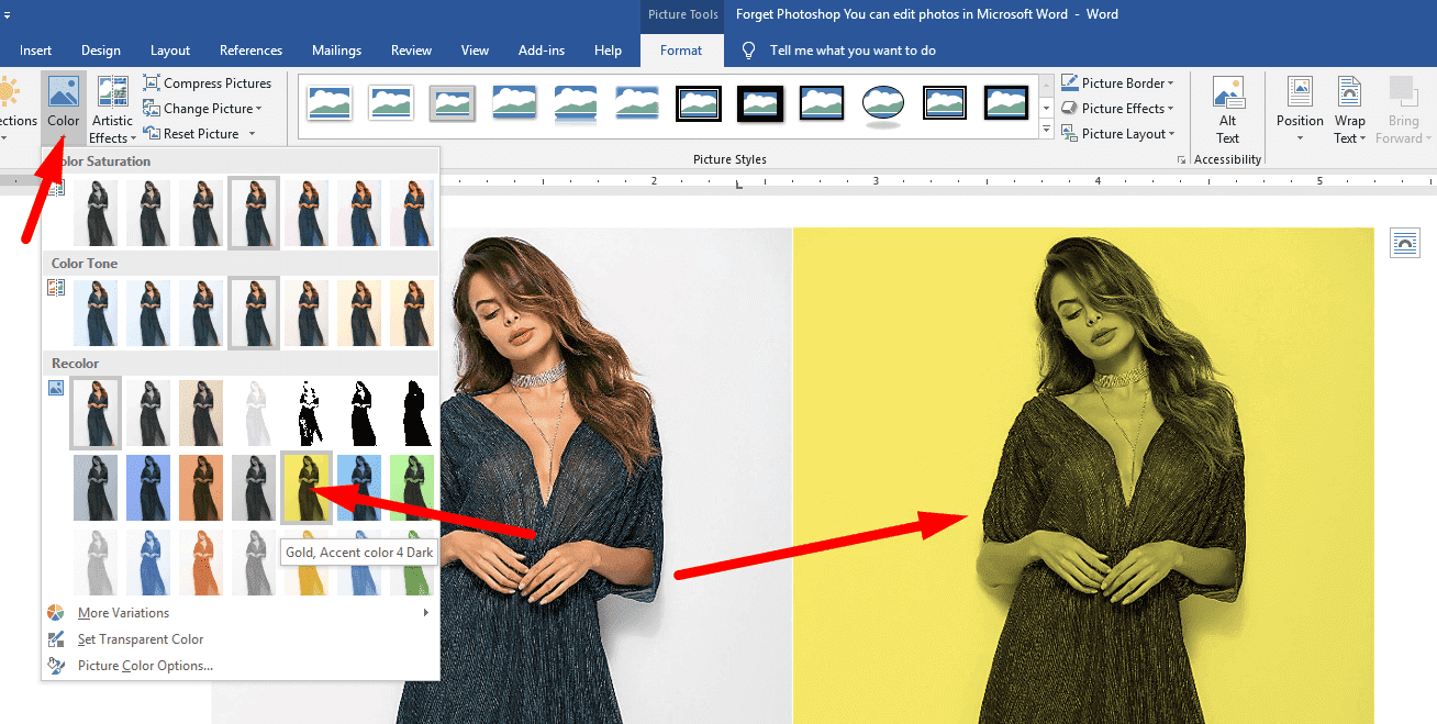 Forget Photoshop - You can edit photos in Microsoft Word 6