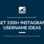 Get Instagram Username Ideas